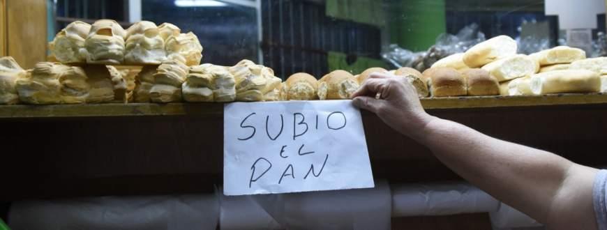 AUMENTO DEL PAN POR INCREMENTO DE MATERIAS PRIMAS